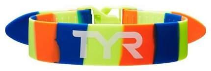 Ремень-фиксатор ног для плавания TYR Rally Training Strap желтый/синий/оранжевый (754)