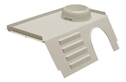 Домик для грызуна Ferplast пластик, 15х26х44см, цвет белый