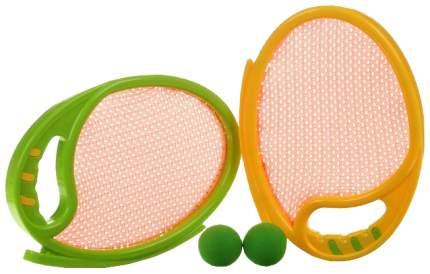 Игровой набор с ракетками 1TOY 2 мягкие ракетки и 2 мяча Т59923