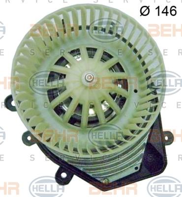 Двигатель моторчика печки Hella 8EW 009 159-081