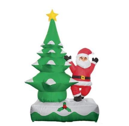 Надувная фигура Дед Мороз с елкой 1.5 м подсветка TS-7/1,5