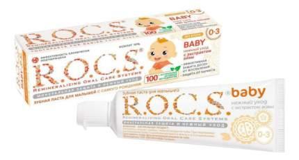 Зубная паста для младенцев Нежный уход с экстрактом айвы (с первого зуба) R.O.C.S. baby 3+
