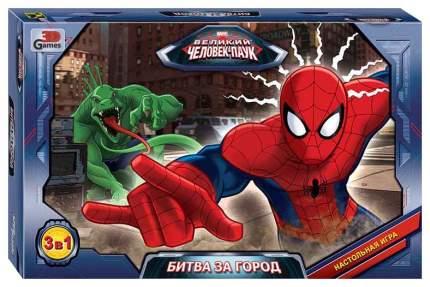 Семейная настольная игра Step Puzzle Великий Человек-паук Битва за город 76544