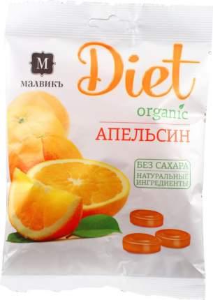 Карамель леденцовая Малвикъ апельсин с натуральным соком 50 г