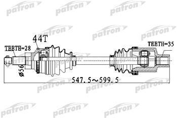 Приводной вал PATRON PDS2919