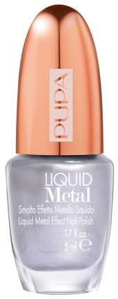 Лак для ногтей PUPA Liquid Metal Rosy Silver 001 5 мл