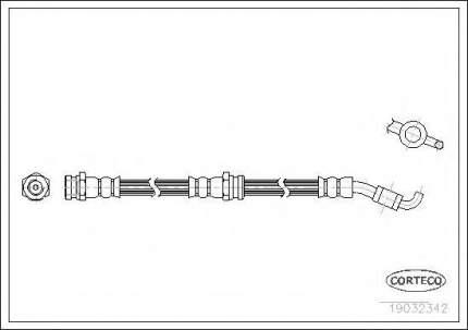 Шланг тормозной системы Corteco 19032342