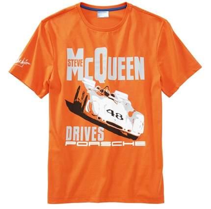 """Мужская футболка Porsche Men's """"car"""" T-shirt – Steve McQueen™, артикул WAP81500S0E"""
