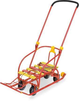 Санки Nika Nikki 3 с механизмом выдвижных колесных шасси N3/K Красный