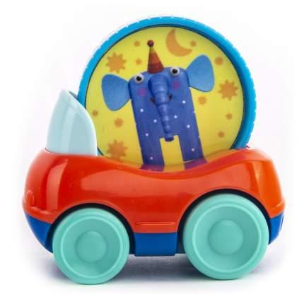Машинка пластиковая Деревяшки Слон Ду-Ду с кругом