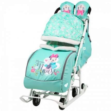 Санки-коляска Baby Care Baby2 мятный Микки Маус