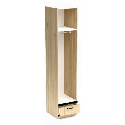 Платяной шкаф СБК Бостон SBK_11608 45x52,6x217,4, белый/гикори джексон/черный