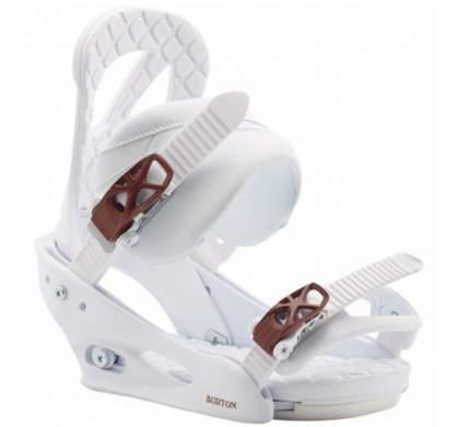 Крепления для сноуборда Burton Stiletto 2020, белые, S