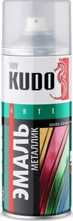 Эмаль KUDO металлик универсальная серебро