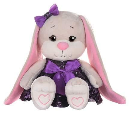 """Мягкая игрушка """"Зайка Jack&Lin в Фиолетовом Платьице с Пайетками"""", 20 см Maxitoys"""
