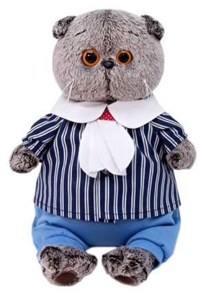Мягкая игрушка BudiBasa Басик в морском костюме, 19 см