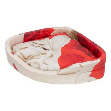 Лежак для собак и кошек Xody Угловой Эконом №1, цвета в ассортименте, 45х45х14 см