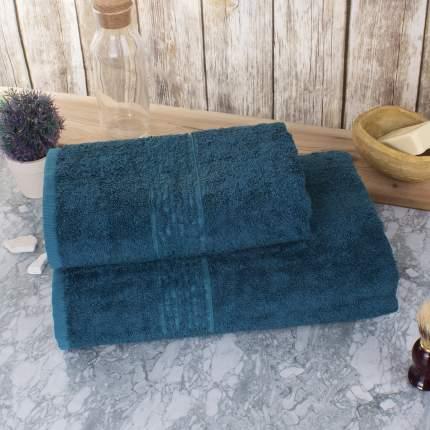 "Набор из 2-х полотенец ""Гармоника"" Bamboo Цвет: Глубокий Океан (50х80 см, 70х130 см)"