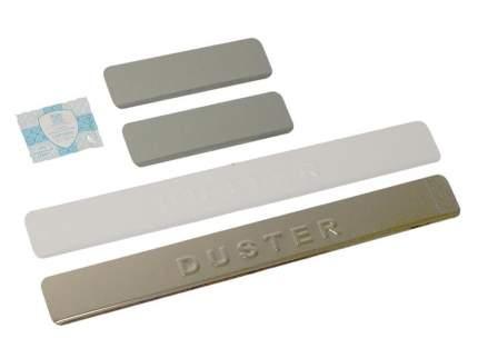 Накладки на пороги Renault Duster Dollex NPS-065