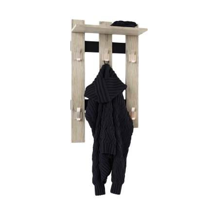 Настенная вешалка в коридор МО РОСТ Вешалка Премьера Пикард / Черный
