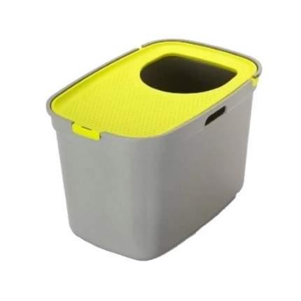 Туалет для кошек MODERNA Top Cat, прямоугольный, желтый, серый, 59х39х38 см