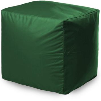 Пуф бескаркасный ПуффБери Квадратный Оксфорд, размер S, оксфорд, зеленый