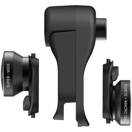 Комлект объективов для смартфона Olloclip Fisheye + Super-Wide + Macro для iPhone XS Max