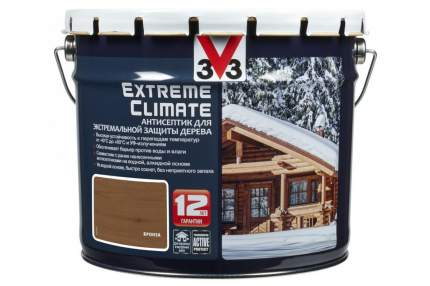 Антисептик для экстремальной защиты V33 Extreme Climate 9 л, Цвет бронза