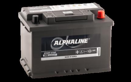 Аккумулятор ALPHALINE EFB 57010 EFB PR 12В 70Ач 650CCA 278x175x190 мм Обратная (-+)
