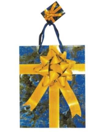 Пакет подарочный Snowmen Коробка с бантом 13x11 см Е50601