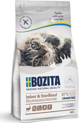 Сухой корм Bozita Indoor & Sterilized Grain free Reindeer для кошек 400 г, Олень