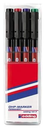 Набор перманентных маркеров Edding 141 для проекторных пленок 0,6 мм, 4 цвета в наборе