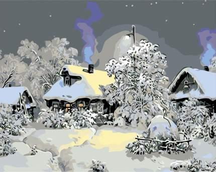 "Картина по номерам Живопись по Номерам ""Зимой в деревне"", 40x50"