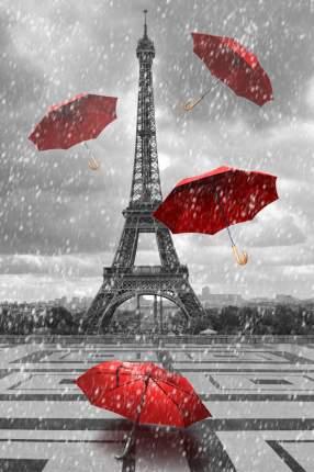 """Картина на холсте 40x60 см """"Париж и красные зонтики"""" Ekoramka HE-101-642"""