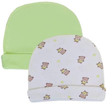 Комплект шапок 2 шт. Папитто зеленый р.44 37-032
