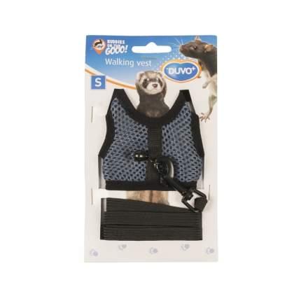 Шлейка для крыс, морских свинок и хорьков Duvo+ Walking Vest, серая, S