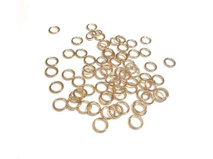 Кольцо соединительное ResinArt (цвет золото), 10 шт