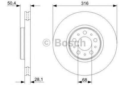 Диск тормозной Bosch 0986479322
