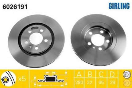 Тормозной диск GIRLING 6026191