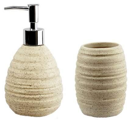 Дозатор для жидкого мыла Fissman 310 мл и стакан 330 мл в наборе