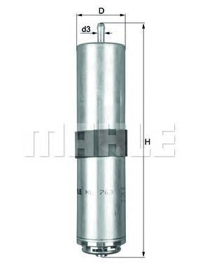 Фильтр топливный Mahle/Knecht KL763D