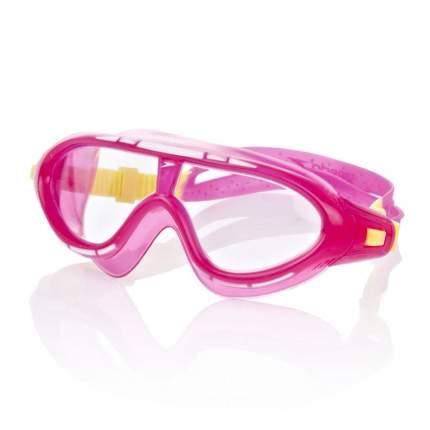 Очки-полумаска для плавания Speedo Rift Junior, 6-14 лет, розовые/желтые (3985)
