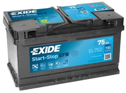 Аккумулятор автомобильный EXIDE EL752 75 Ач
