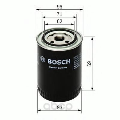 Фильтр масляный lada 08-112/ford sierra/scorpio 2.0-2.9 83-94 Bosch арт. 0 451 103 274