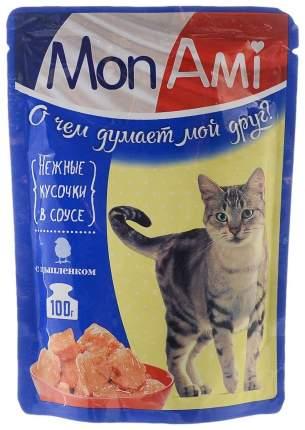 Влажный корм для кошек MonAmi, цыпленок, 24шт, 100г