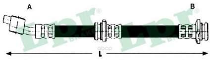 Шланг тормозной системы Lpr 6T48291 передний левый