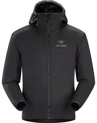 Спортивная куртка мужская Arcteryx Atom AR Hoody, black, S