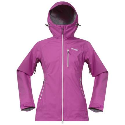 Спортивная куртка женская Bergans Eidfjord Lady, bougainvillea/dark cherry/strawberry, XS
