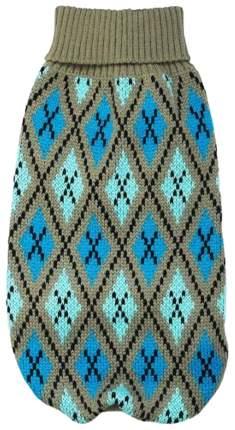 Свитер для собак Уют размер M унисекс, серый, голубой, длина спины 30 см
