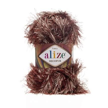 """Пряжа для вязания Ализе Decofur """"Травка"""" (100% полиэстер) 5х100гр/100м цв,1365 коричнево-б"""